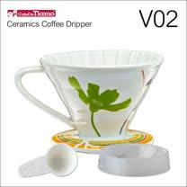 Tiamo V02陶瓷咖啡濾杯組-附量匙.滴水盤(綠色)HG5547G