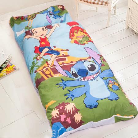 【迪士尼-史迪奇】台灣精製兒童睡袋(藍)