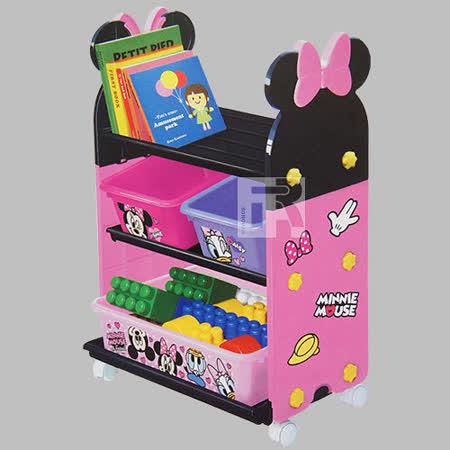 玩具收納櫃套組(附輪子) 米妮