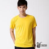 【遊遍天下】100% MIT 台灣製中性輕量圓領吸濕排汗機能衫S0705金黃