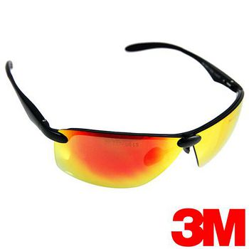 3M 耐衝擊戶外運動眼鏡-加送多功能頭巾 OSE 1101T紅色