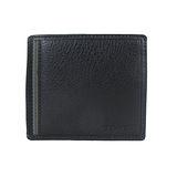 COACH新款皮革六卡夾零錢袋有型短夾(黑)