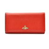 Vivienne Westwood 彩色塘瓷 orb 深紅色羊皮發財包長夾