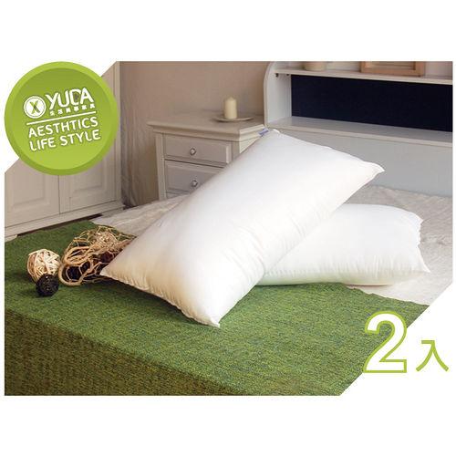 ~YUDA~低枕 康派訊 100^%純棉壓縮枕頭~二入~枕心人體工學枕旅館飯店用枕