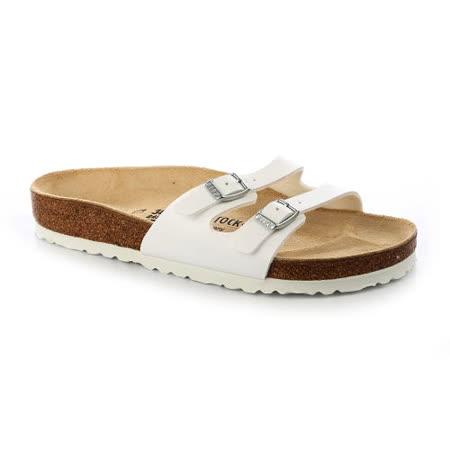 BIRKENSTOCK 041731。IBIZA伊比薩二條細版拖鞋(白)