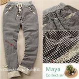 【Maya Collection】黑白鍵 日本經典黑白百搭鬆緊腰身休閒長褲