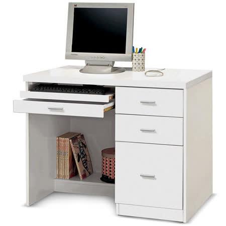 【部落客推薦】gohappy 購物網日式量販 簡約基本款3.5尺白色電腦桌推薦愛 買 購物 中心