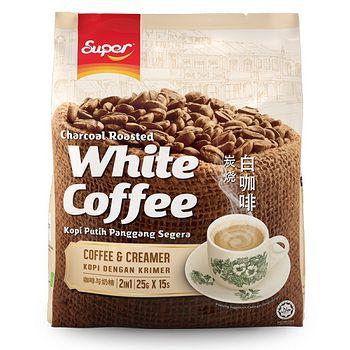超級2合1炭燒白咖啡 (無糖) 25g*15s