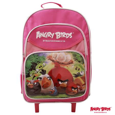 【Angry Birds】憤怒鳥16吋拉桿書包(粉桃)