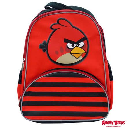 【Angry Birds】造型條紋護脊書背包(B1款)
