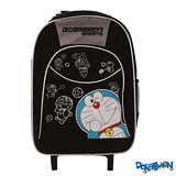 【Doraemon】哆啦A夢三段式拉桿書背包(黑)