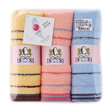 1881 純棉緞檔毛巾3入/組(33*76cm)