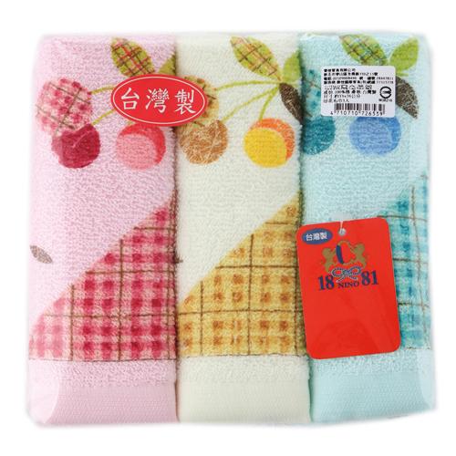 1881 印花毛巾3入組^(33^~76cm^)