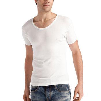 范倫鐵諾 全棉圓/U領短袖衫(M~XL)