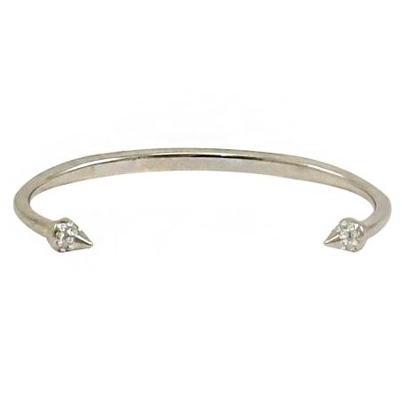義大利品牌 VITA FEDE 施華洛世奇鑲鑽錐型鉚釘細手環.銀