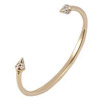 義大利品牌 VITA FEDE 施華洛世奇鑲鑽錐型鉚釘細手環.金