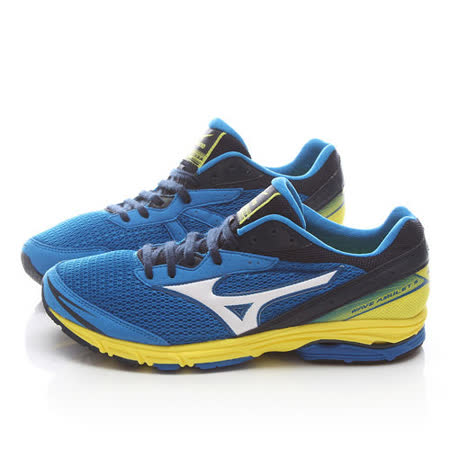 MIZUNO男款 WAVE AMULET 5 輕量路跑鞋J1GA148103-藍