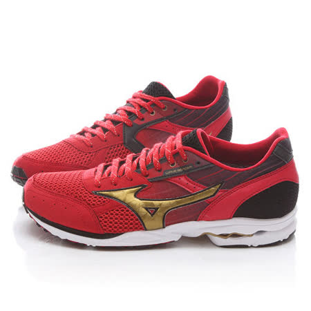 MIZUNO男款 WAVE SPACER DYNA 2 WIDE 超輕路跑鞋J1GA157750-紅