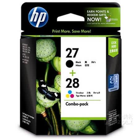【HP】NO.27+NO.28墨水匣組合包(CC628AA)
