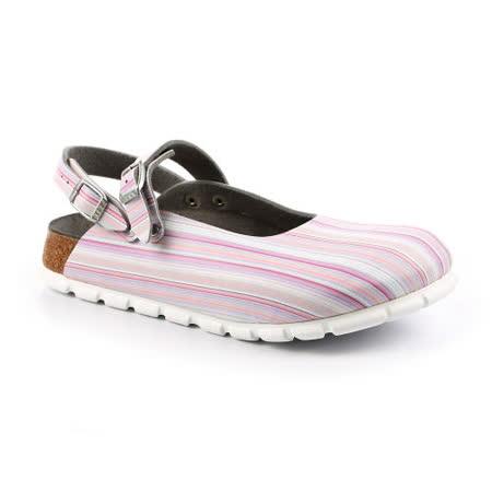ALPRO 105153。C165 繞踝包頭拖鞋(粉色條紋)