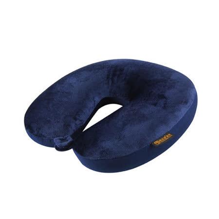 AOU 旅行配件 頸部工學U型枕 護頸枕  靠枕 午睡枕  (藏青色)66-015