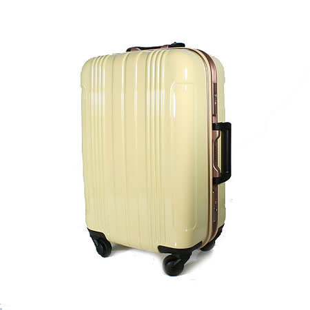 COSSACK 27吋 PC糖果色系列 日本靜音輪鋁框旅行箱 米黃色 CS11-2026029-06