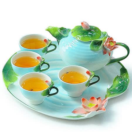 【真心勸敗】gohappy線上購物【The simple Life 】荷花造型精緻茶具組6件組(預購)推薦新光 三越 南西 店