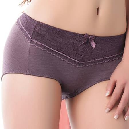 【思薇爾】舒棉Bra系列中低腰平口褲(紫褐色)