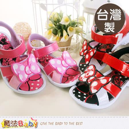魔法Baby~台灣製專櫃款迪士尼米妮女童涼鞋 sh5571