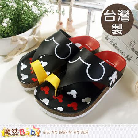 魔法Baby~台灣製專櫃款迪士尼米奇涼拖鞋 sh5687