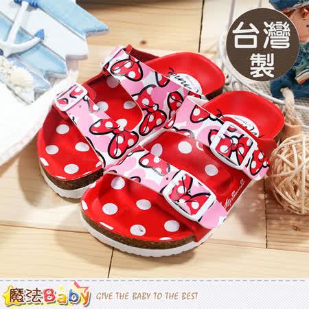 魔法Baby~台灣製專櫃款迪士尼米妮涼拖鞋 sh5700