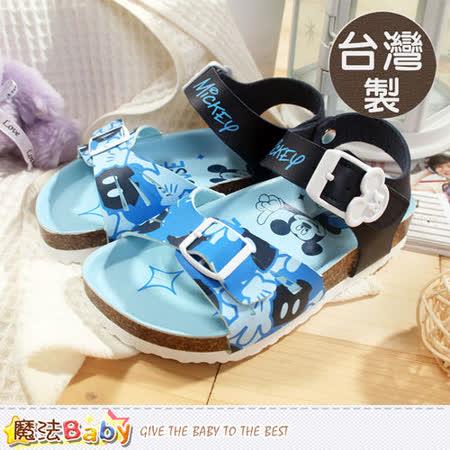 魔法Baby~台灣製專櫃款迪士尼米奇涼鞋 sh5724
