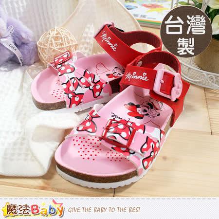 魔法Baby~台灣製專櫃款迪士尼米妮涼鞋 sh5731