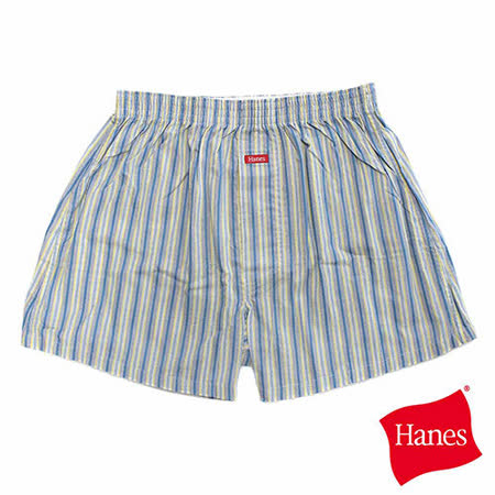 【美國HANES】時尚品味直條紋平口褲-男