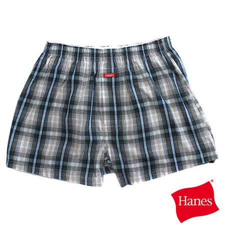 【美國HANES】經典雅仕格紋平口褲-男