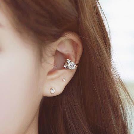 【PS Mall】葉子麥穗夾式耳環 (G751)