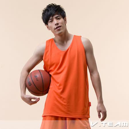 【V.TEAM】善變潮流雙面穿吸濕排汗籃球背心-男(濃深橘)