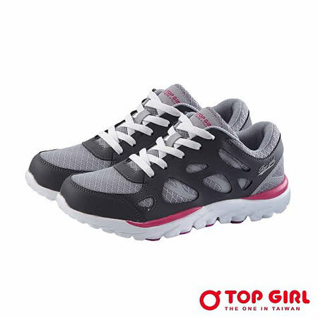 【TOP GIRL】百變嬌娃輕量慢跑鞋-灰