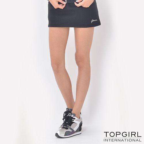 ~TOP GIRL~簡約休閒褲裙 ^(神祕黑^)