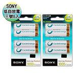 SONY 低自放3號新型2100mAh充電電池(8顆入)