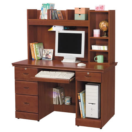 HAPPYHOME 長榮柚木色4.2x4.8尺電腦桌869-4
