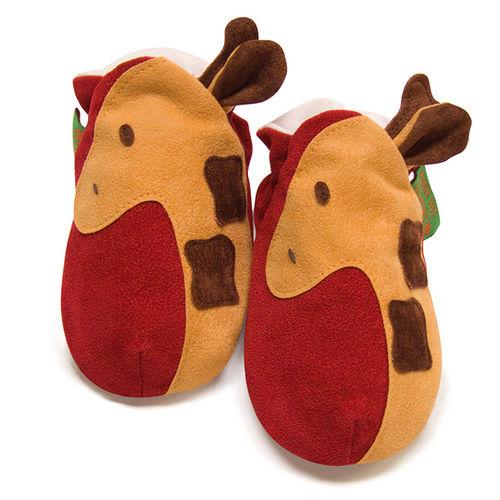 英國 Funky Feet 手工學步鞋 室內鞋 長頸鹿 6-24M