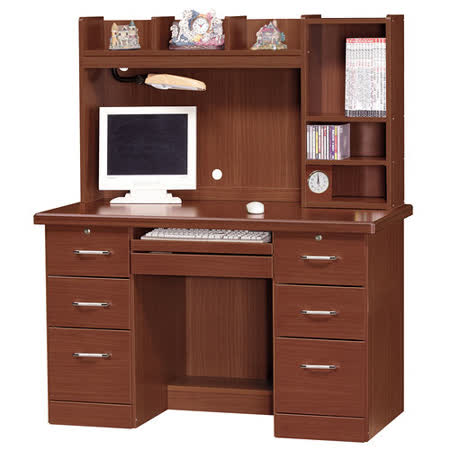 HAPPYHOME 吉星柚木色4.2x4.9尺電腦桌871-5