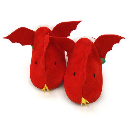 英國 Funky Feet 手工學步鞋 室內鞋 紅色飛龍 6-24M