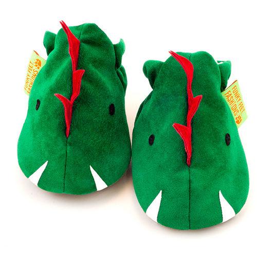 英國 Funky Feet 手工學步鞋 室內鞋 開心恐龍 6-24M