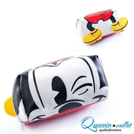 DF Queenin - 迪士尼系列米老鼠立體帆布收納包