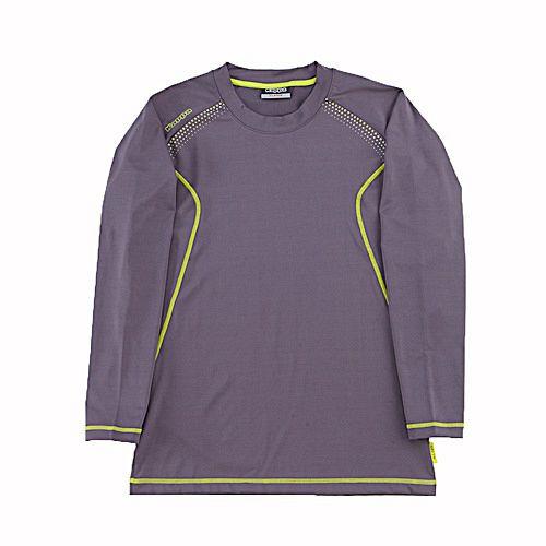 KAPPA義大利 精典型男慢跑內搭衣 薄款合身版 ~深灰~鮮綠