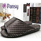 【Pansy】日本皇家品牌 男士手工 止滑 時尚菱格 室內拖鞋 -9009