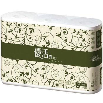 優活小捲筒衛生紙270張*6捲