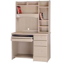 HAPPYHOME 進興白橡色3.5x5.6尺電腦桌896-4
